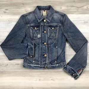 7 For All Mankind Distressed Jean Jacket Small